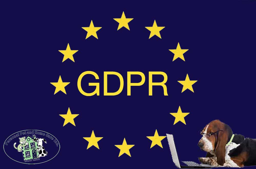 GDPR Privacy Policy for personal pet and home care